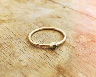 Steinchenring Smaragd Small